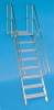 Aluminum Stairway with Platform - Image