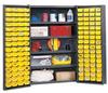 Bin Storage Cabinet,Pocket Door,72x48x24 -- BC4803G