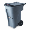 Brute Rollout Heavy-Duty Waste Container, Square, Polyethyle -- 9W2100 - Image