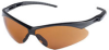 Jackson Safety Nemesis V30 Polycarbonate Standard Safety Glasses Copper Lens - Black Frame - Wrap Around Frame - 761445-00443 -- 761445-00443