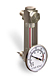 (Formerly B1557-2X21), Steel Liquid Level Gage with Dial Thermometer, 3