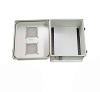 14x12x07 Fiberglass Reinf Polyester FRP Weatherproof Outdoor IP24 NEMA 3R Enclosure, Modified Base DIN Rail MNTs Vented Lid Gray -- TEF141207-00VDR -Image