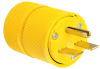 Pass & Seymour® -- Gator Grip Plug, Yellow - D0631