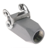 Standard, Rectangular Hood, size 21.21, Stainless Steel Single Latch, Top PG11 cable entry -- CKAX-03VGS