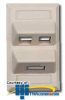 Hubbell 2 Port Angled Face Plates -- AFP12SCD - Image