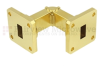 WR-51 Waveguide E-Bend Instrumentation Grade Using UBR180 Flange With a 15 GHz to 22 GHz Frequency Range -- SMF-51EB-001 - Image