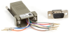 DB9 Colored Modular Adapter (Unassembled), Male to RJ-45, 10-Wire, Gray -- FA1013
