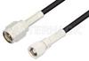 SMA Male to SMC Plug Cable 72 Inch Length Using PE-B100 Coax -- PE34460-72 -Image