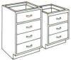 Standard Steel Laboratory Cabinet, Small All Drawer Unit -- 040-N Series