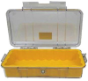 Pelican 1015 Micro Case - Clear with Yellow Liner -- PEL-1015-007-100 -Image
