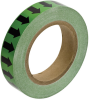 Brady B-946 Black on Green Directional Flow Arrow Tape - 1 in Width - 30 yd Length - 91412 -- 754476-91412 - Image