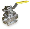 3 Piece Ball Valve,Socket Weld,1/4 In -- 3EFC1