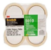 3M Highland 5910 Clear Standard Box Sealing Tape - 3/4 in Width x 72 yd Length - 2 mil Thick - 74879 -- 051125-74879 - Image
