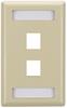2-Port Ivory Single-Gang Keystone Wallplate -- WPT460 - Image