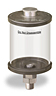 """Clear View Oil Reservoir, 1 pt Acrylic, 3/8"""" Male NPT, Pipe Mount -- B4466-016AB3W -Image"""