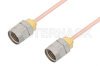 1.85mm Male to 1.85mm Male Cable 12 Inch Length Using RG405 Coax -- PE36523-12 -- View Larger Image