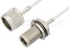 N Male to N Female Bulkhead Cable 72 Inch Length Using RG188 Coax, RoHS -- PE34181LF-72 -Image