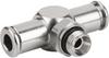 Push-in Fitting, T STV-T G1/8-AG 8 -- 10.09.02.00041