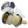 PMC Series Acetal Shut-off Mount Hose Barb Coupling 1/8