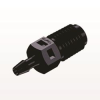Straight Connector, Barbed, Black -- N2S331 -Image