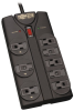 Protect It! 8-Outlet Surge Protector, 8 ft. Cord, 1440 Joules, Black Housing -- TLP808B