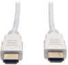 High Speed HDMI Cable, Ultra HD 4K x 2K, Digital Video with Audio (M/M), White, 6-ft. -- P568-006-WH -- View Larger Image