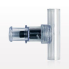 T Connector, Luer Activated, Female Luer Lock, Tubing Ports -- 80365 -Image