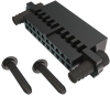 10+10 Pos. Female DIL Cable Housing, Rubber Locking -- M225-4552098 - Image