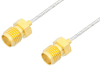 SMA Female to SMA Female Cable 18 Inch Length Using PE-SR047FL Coax -- PE34833-18 -Image