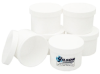 Plastic Sample Containers, 8oz, w/Lids, Pkg 12 -- SC-130