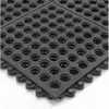 576 58x3x3NBRBK - 24/Seven Modular Nitrile, Grit Works Mat, Open 3 ft x 3 ft -- GO-81853-15