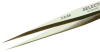 Tweezer - Reverse Action - Curved/Tapered - Round tip (Length: 6; Material: stainless, anti-magnetic) -- EXCELTA 30-SA