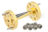 WR-10 45 Degree Left-hand Waveguide Twist With a UG-387/U-Mod Flange Operating From 75 GHz to 110 GHz -- PE-W10TW1002 - Image