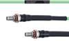 Temperature Conditioned Low Loss SMA Female Bulkhead to SMA Female Bulkhead Cable LL160 Coax in 48 Inch -- FMHR0189-48 -Image