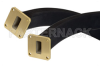 WR-90 Twistable Flexible Waveguide 24 Inch, UG-39/U Square Cover Flange Operating From 8.2 GHz to 12.4 GHz -- PE-W90TF005-24 -- View Larger Image