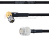 RA SMA Male to TNC Male MIL-DTL-17 Cable M17/84-RG223 Coax in 18 Inch -- FMHR0055-18 -Image