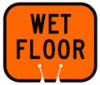 Traffic Cone Snap-On Signs (WET FLOOR) -- 754476-80118