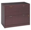 2-Drawer Lateral File, 36w x 20d x 29-1/2h, Mahogany -- HON11563AFNN - Image