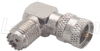 Coaxial Adapter, Mini-UHF Female / 90º Male -- BA470 - Image