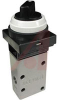 Valve, mechanical actuator - 2 positionblack push button selector, 2 port -- 70070659 - Image
