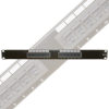 MILESTEK CAT6 12 PORT PATCH PANEL -- 50-44083