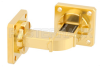 WR-51 Instrumentation Grade Waveguide H-Bend with UBR180 Flange Operating from 15 GHz to 22 GHz -- PE-W51B002 -Image