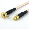 MMCX Plug to RA MCX Plug Cable RG-316 Coax in 72 Inch -- FMC0917315-72 -Image