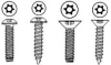 "MACHINE SCREW FLAT HEAD TORX 18-8 STAINLESS STEEL 6-32 X 3/4"" -- IBI528743"