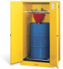 Justrite Vertical Drum Safety Cabinet with Rollers -- CAB431
