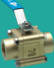 High Vacuum Ball Valve -- Manual, Brass Body, Tube End Ports - Image