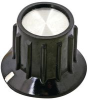 TE CONNECTIVITY / ALCOSWITCH - PKA50B1/4 - RIBBED KNOB WITH LINE INDICATOR, 6.35MM -- 579662