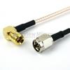 SMA Male to RA SMB Plug Cable RG-316 Coax in 36 Inch -- FMC0226315-36 -Image