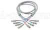 Deluxe RGB Multi-Coaxial Cable, 4 BNC Male / Male, 25.0 ft -- CTL4B-25