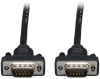 Low-Profile VGA Coaxial High-Resolution Monitor Cable with RGB Coaxial (HD15 M/M), 2048 x 1536 (1080p), 10 ft. -- P502-010-SM - Image